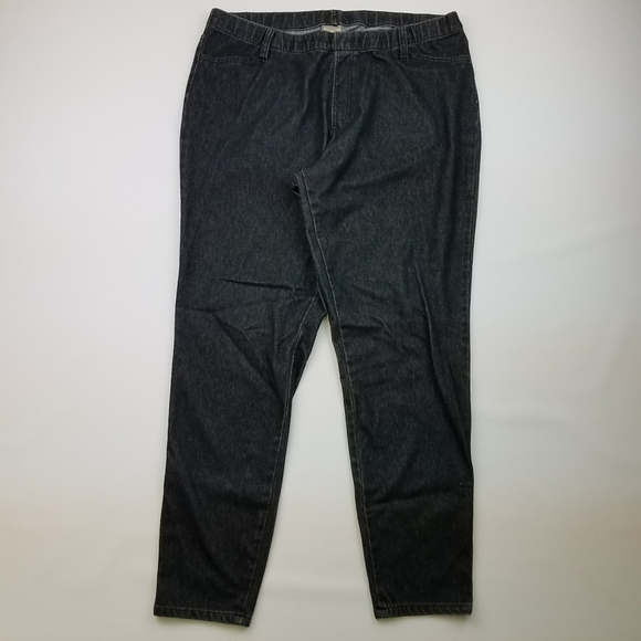 Faded Glory Denim - Black Denim jeggings with pockets